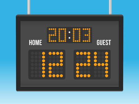 result: Scoreboard with time and result display illustration Illustration