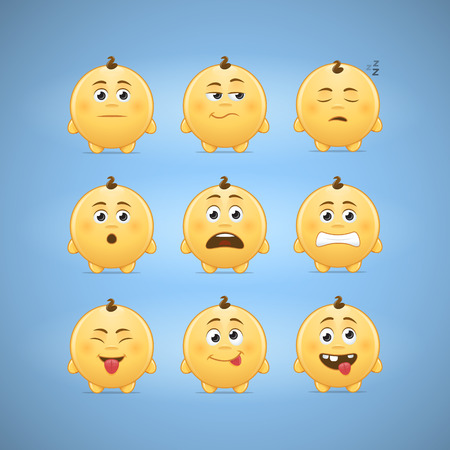 smileys: Emoticons smileys vector illustration - second set