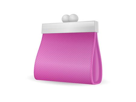 change purse: Elegant change purse - wallet vector illustration isolated on white