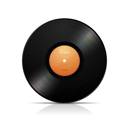 lp: LP vinyl record vector illustration isolated on white Illustration