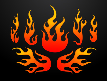 Tribal fire flames vector illustration Stock Vector - 55075461