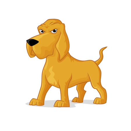 bloodhound: Bloodhound dog vector cartoon illustration isolated on white