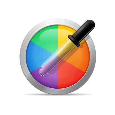 Color picker with pipette detailed vector icon illustration