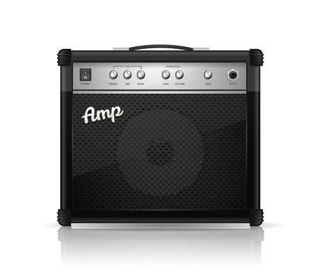 amp: Guitar amplifier vector illustration