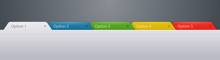 Website tabs options graphic element