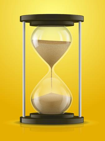 Hourglass detailed vector illustration