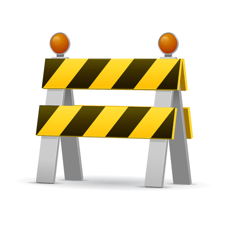 Construction barrier vector illustration isolated on white