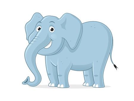 Happy elephant cartoon illustration
