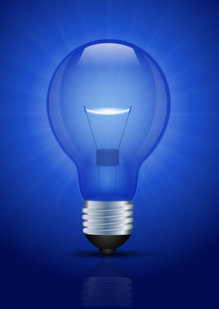 Blue Light bulb illustration