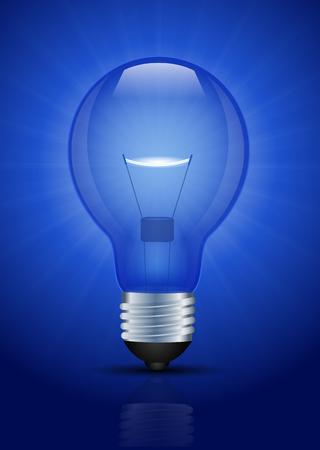 Blue Light bulb illustration
