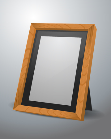 Wooden picture frame illustration