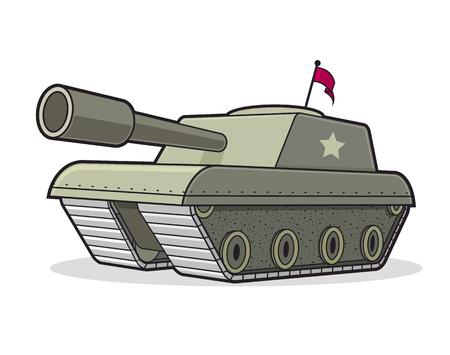 Battle tank cartoon illustration