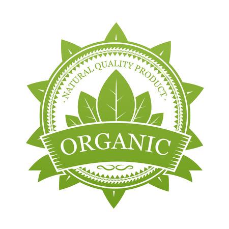 유기농 라벨 일러스트