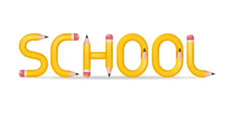 학교 연필 일러스트
