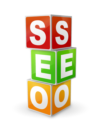 Search Engine Optimization concept with cubes