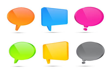 3d Speech bubbles vector illustration Stock Illustratie