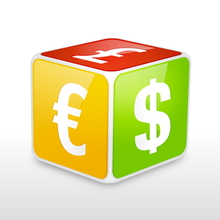 Forex cube vector illustration