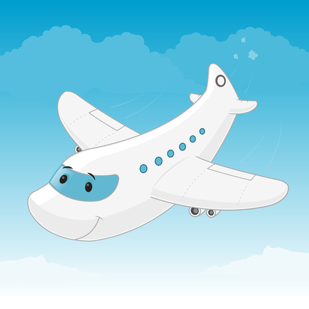 Airplane cartoon mascot character