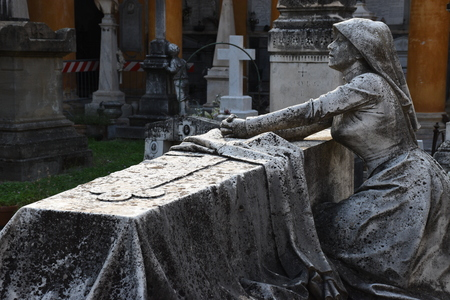 Tomb in the monumental cemetery of the Certosa di Bologna