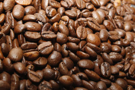 image of fair trade brown coffee beans Stock Photo - 9311896