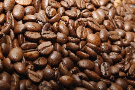 exploit: image of fair trade brown coffee beans Stock Photo