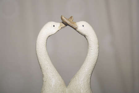 loveheart: image of porcelain ducks kissing ornamanet