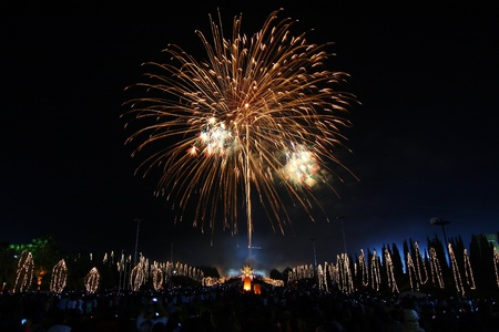 Fireworks ,Celebrate King Birthday,Thailand