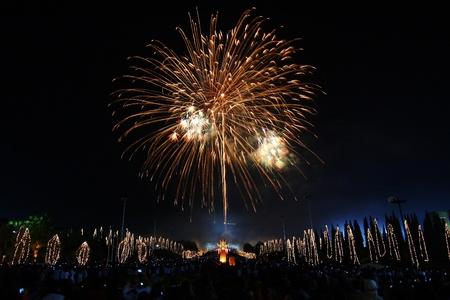 Fireworks ,Celebrate King Birthday,Thailand