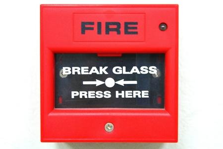 evacuacion: alarma de incendio Foto de archivo