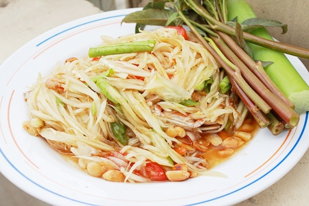 Green papaya salad,Thailand photo