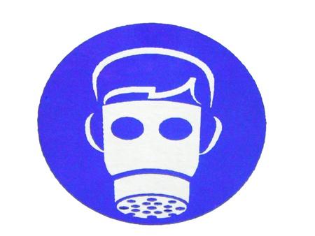label (put gas mask protected) Фото со стока