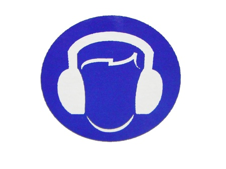 safety message: label (put earphone protected)
