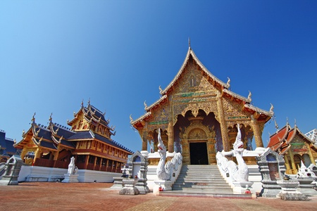 buddhist temple: temple thailand Stock Photo