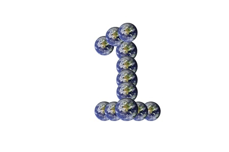 Earth Number text one 1 Stock Photo - 11210627