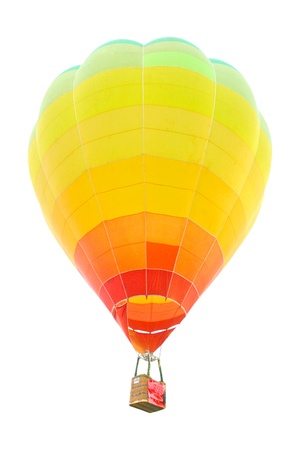 polychrome: Isolated hot air balloon