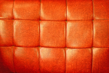 red orange leather upholstery