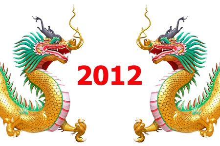 dragon statue new year 2012 photo