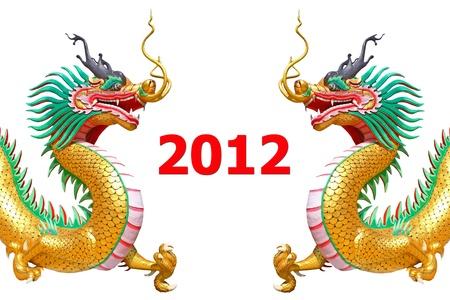 dragon statue new year 2012 Stock Photo - 11617048