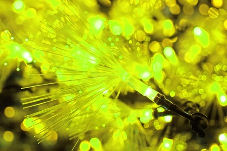 Yellow LED light Abstract photo