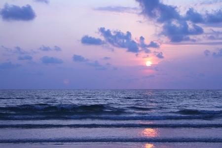 sunset on the beach Stock Photo - 12911701