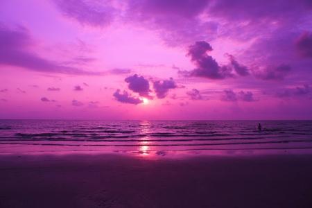 sunset on sea Stock Photo