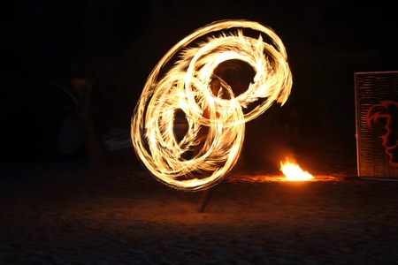 Fire staff swing