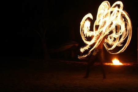 poi: Fire staff swing