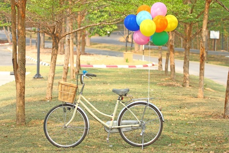 Bike and Balloon photo