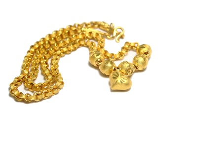 Gold necklace Stock Photo - 14503932