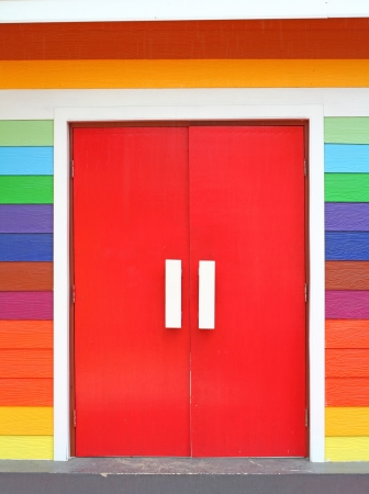 colorful door Stock Photo