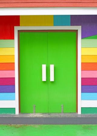 colorful door photo