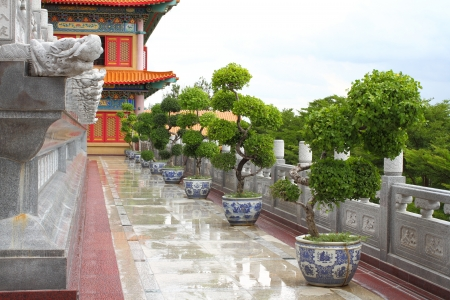 The Chinese temple art public place