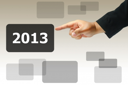 business hand press 2013 Stock Photo - 15422457