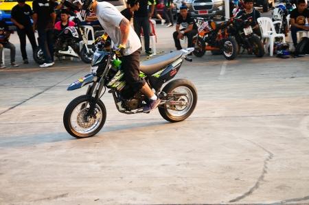 motor stunt show, kawasaki ksr stunt show in thailand 2013